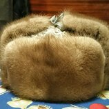 Редкая шапка норковая ушанка норка каракуль