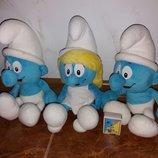 Мягкие игрушки Смурфы Смурфики Смурфетта Смурфочка от Диснейдіснейdisney
