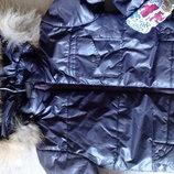 Куртка деми с натуральной опушкой