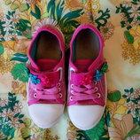 Детские розовые кеды на липучках для девочки Befado, Польша