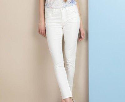 Шикарные белые укороченные джинсы old navy, л-хл