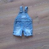 Летний джинсовый комбинезон-шорты