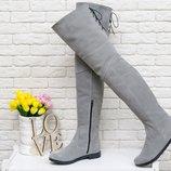 Замша,кожа ботфорты на шнуровке осень-зима 111/ 17 ,р-ры 36-41,любой цвет