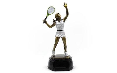 Награда спортивная большой теннис женский 2688 статуэтка наградная большой теннис 23х10х9см