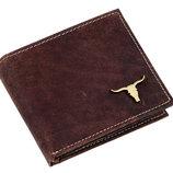 Глянцевый мужской кошелек Buffalo Wild с изображением быка. Отличный подарок