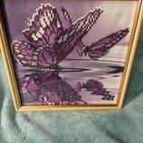 оригінальний подарунок / оригинальный подарок алмазна вишивка / алмазная вышивка метелики