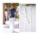 Брюки лен Cons jeans size 34 р.50-52 белые