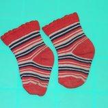 Носки детские на девочку красные в полоску
