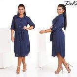 Платье рубашка размер- 42-44.46-48.50-52.54-56 ткань - штапель