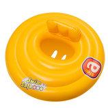 Детский надувной плотик для плавания Bestway 32096, 69 см, желтый, с трусиками, от 0 до 1 года