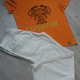 Брюки, штаны мужские Белые светлые летние мужские. размер указан 38 52 - 54 замеры есть.
