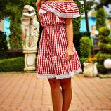 Платье с кружевом Вивиан