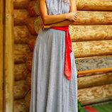 Длинное летние платье Хлоя 03
