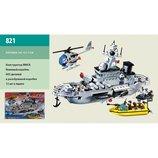 Конструктор 821 Brick Военный корабль