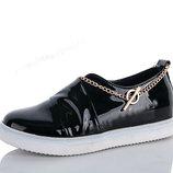 Супер Модные туфли Туфельки Мокасины Слипоны С Браслетиком-Цепочкой На Ножку