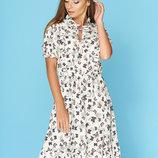 7 цветов Женственное платье Ясмина с отрезной линией талии и коротким рукавом фонарик