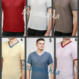 48-54 Вязаная летняя футболка, мужская футболка, украинский производитель