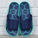 Шлепанцы мужские Fly blue&mint влагостойкие облегченные синие с бирюзовым
