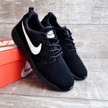Кроссовки мужские замш Nike Roshe Run black