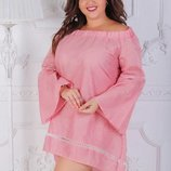 Платье женское - батал Ткань Турция лен 48-50, 52-54