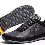 Кроссовки кожаные Merrell Black-Grey.