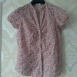 Размер 10-12,12 Нежная фирменная тоненькая хлопковая блузка рубашка