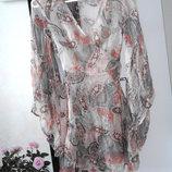 Легкая утонченная шифоновая туника платье 95 % шелк Lipsy