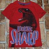 футболка хб Динозавр 4-5лет Джорж большой выбор одежды 1-16лет