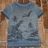 футболка хб Динозавры 6лет Некст сток большой выбор одежды 1-16лет