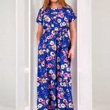 Платье с карманами Ткань штапель Размеры 48, 50, 52