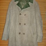 Редкая дорогая Дубленка куртка кожаное пальто овчина Италия