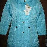 Куртка , Деми Новая р.38-44 девочка подросток рост 152-172 с капюшоном,утеплитель пух