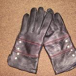 женские перчатки кожа утеплитель М идеал