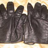 мужские перчатки кожа утеплитель укороченные L