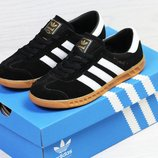 Кроссовки Adidas Hamburg black/white