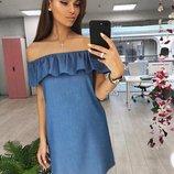 Женское джинсовое платья сарафан