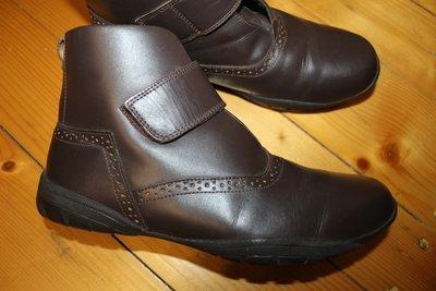 41 - 42 разм. Стильные ботинки унисекс. Кожа. Германия