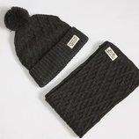 Крутой и стильный набор шапка и шарфик мальчику 1-2 года от H&M