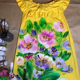 В Наличии платье с ручной росписью размер С и М