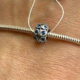 Пандора серебряная шарм Роксолана синяя 3508