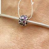 Пандора серебряная Шарм Роксолана фиолет 3508