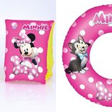 Набор круг и нарукавники Minnie Mouse, 3-6 лет