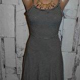 Сарафан XXS/XS, женский сарафан, трикотажный сарафан, трикотажный сарафан в полоску, летнее платье