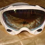 маска лыжная очки зеркальная белая Uvex Alpina