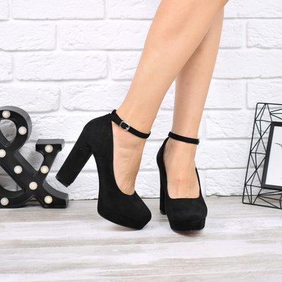 a2d3f7142 Женские черные замшевые туфли на каблуке: 600 грн - женские ...