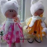 Стильные интерьерные куклы Сестрички-Подружки 30см