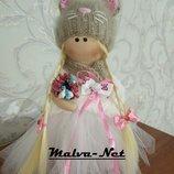 Интерьерные куклы Блондинка-Кошка 30см
