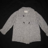 4-5 лет, тёплый толстый вязаный кардиган Zara для девочки