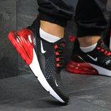 Кроссовки мужские Nike Air Max 270 black/red, Топ качество