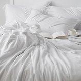 Белое постельное белье однотонное Beyaz из турецкого 100% хлопка премиум